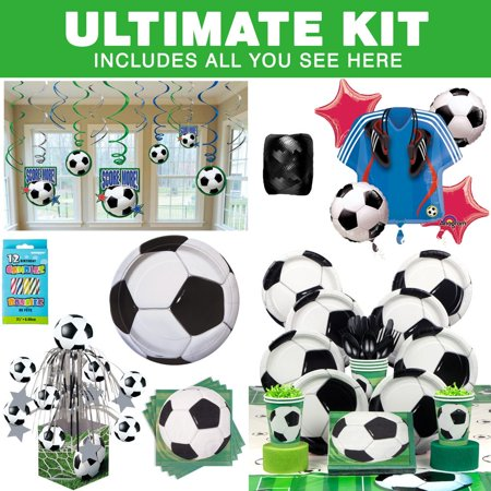 Soccer Party Ultimate Kit (Serves 8) - Party Supplies