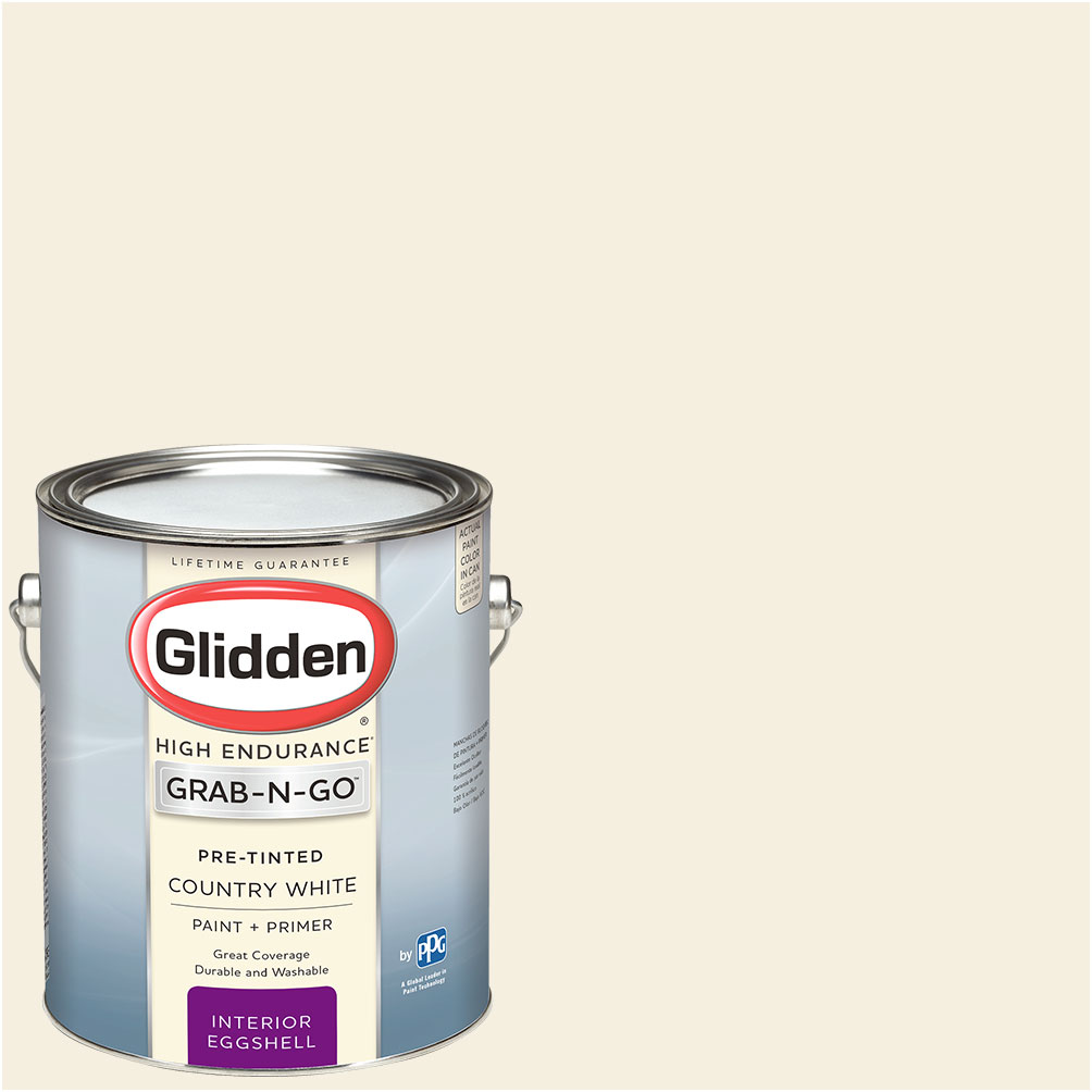 Glidden Pre Mixed Ready To Use, Interior Paint and Primer, Country White, Eggshell Finish,... by PPG Architectural Coatings