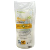 World Centric Corn Compostable Clear Cups, 16 oz, 20 Count