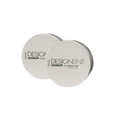 Interrupt Texturizing Clay, 2 oz - Regis DESIGNLINE - Creates Texture, Definition, and Separation with a Medium-Hold to Add Volume for All Hair Styles (2 oz (2 (Best Products To Add Volume To Hair)