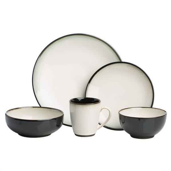 Sango Nova Black Stoneware Dinnerware With Dishwasher Safe. 40 Piece Set  sc 1 st  Walmart & Sango Nova Black Stoneware Dinnerware With Dishwasher Safe. 40 Piece ...