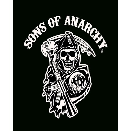 Sons of Anarchy Reaper Luxury Plush Throw Blanket, Black, 100% Polyester By Sofantex Ship from US ()