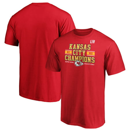 Kansas City Chiefs NFL Pro Line by Fanatics Branded Super Bowl LIV Champions Rookie T-Shirt - Red Nfl Fanatic Fan Shirt