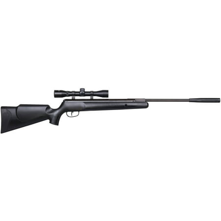Black Semi Automatic Gun - Benjamin Nitro Piston Powered Prowler NP Air Rifle, .22 cal, 4x32 Scope BPNP82SX