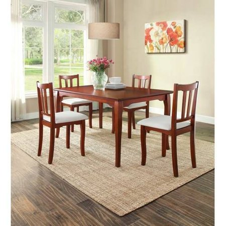 Better Homes And Gardens Ashwood Road 5 Piece Dining Set Brown Cherry With Upholstered Chair