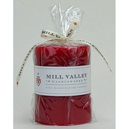 Mill Valley Candleworks Summer Plum Scented Pillar Candle
