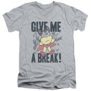 Mighty Mouse Give Me A Break Mens V-Neck Shirt