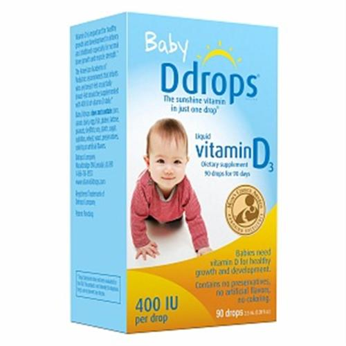 Ddrops Baby Liquid Vitamin D3 400 IU 2.50 mL (90 drops) (Pack of 2)