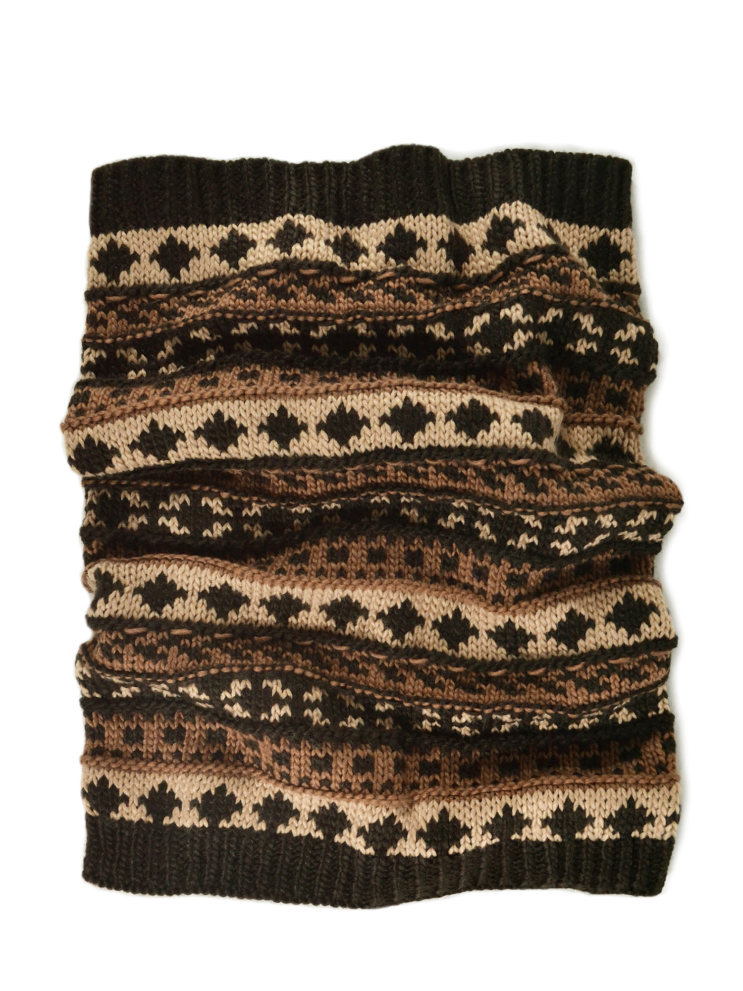 Men's Chunky Fairisle Funnel