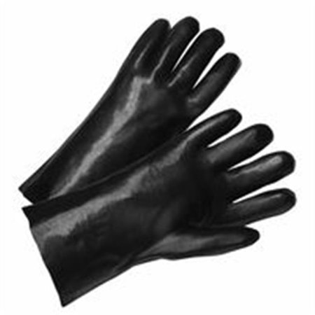 Welders Gloves, Large, Pvc, Interlock Lining, Black