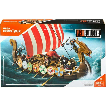 Mega Construx Probuilder Viking Ship Building Set