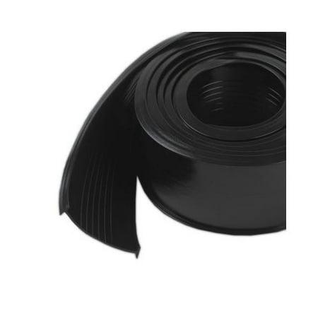"""M-D Products 08462 Black Garage Door Vinyl Bottom Replacement, 2-1/2"""" x 18'"""