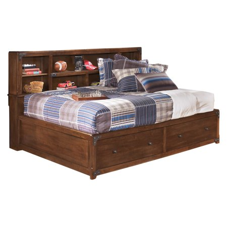 Signature Design By Ashley Delburne Youth Storage Bed   Medium Brown