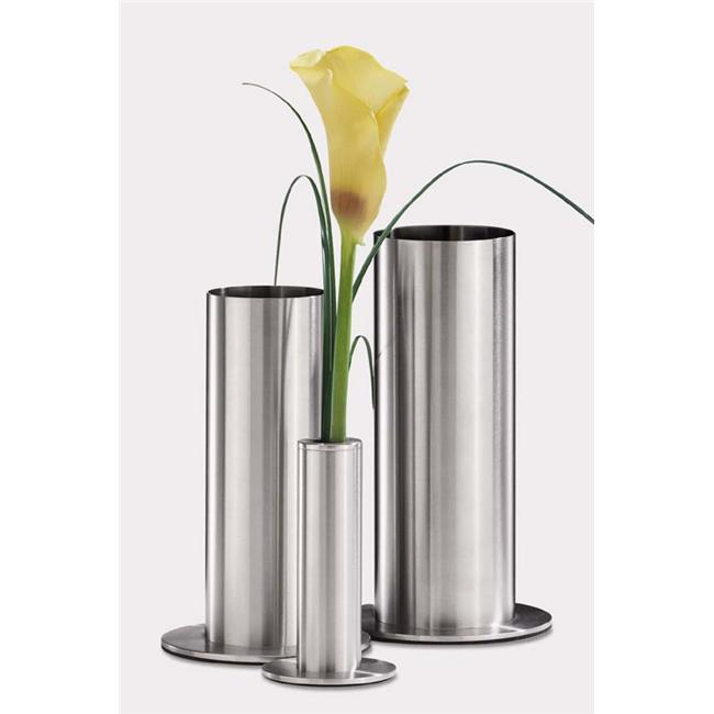 Zack 22971 VENTO vase h. 9. 65 inch Stainless Steel