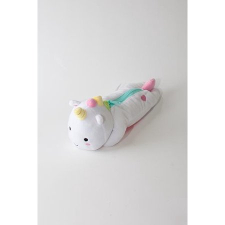SMOKO Elodie Unicorn Pencil Case, Plush Zipper Storage for Pens, Pencils & School Supplies - Supply Store