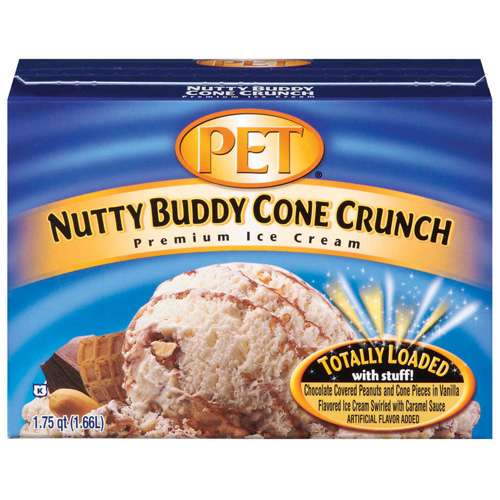 Pet: Nutty Buddy Cone Crunch Ice Cream, 1.75 Qt