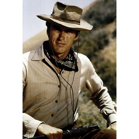 Clint Eastwood in a cowboy costume Photo Print