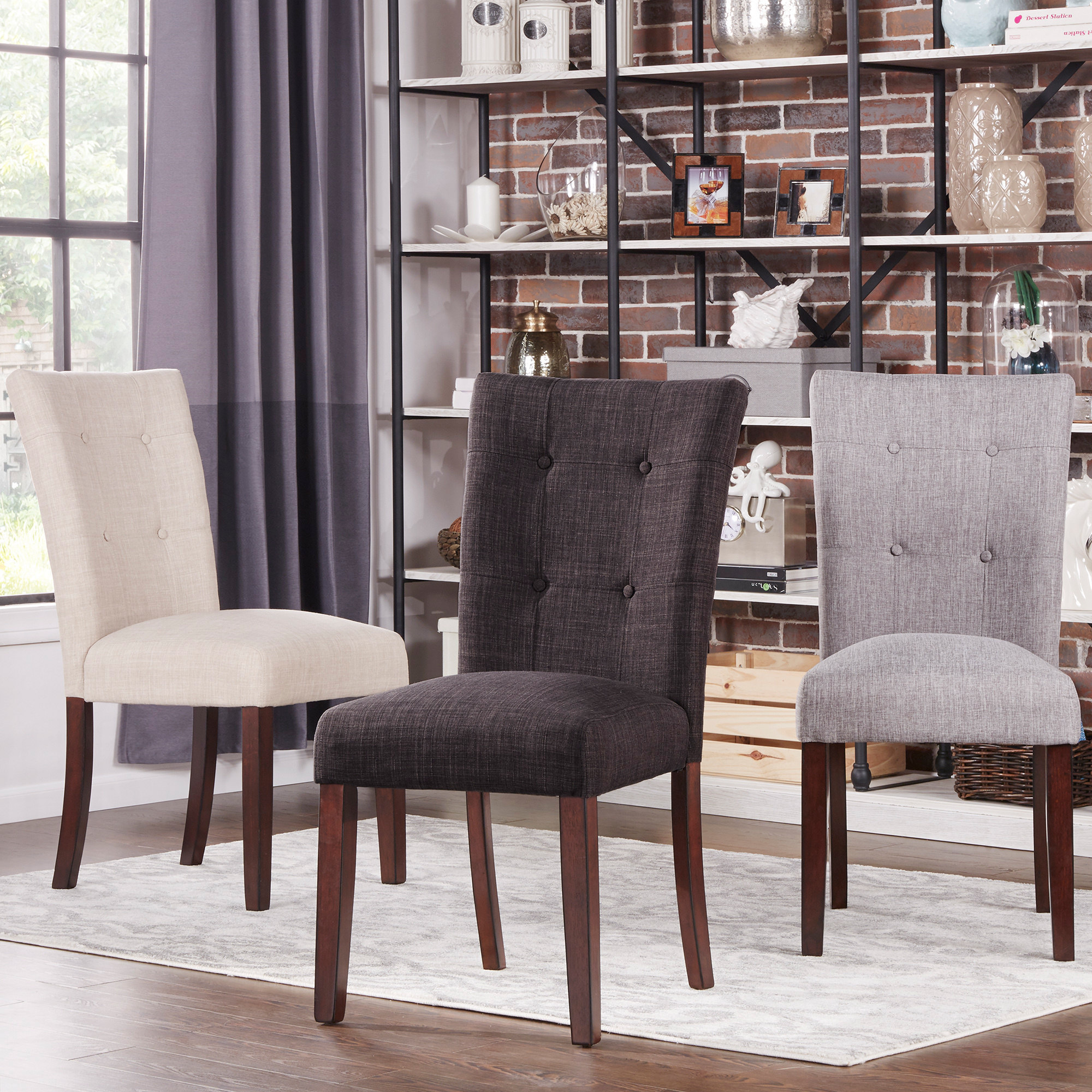 iNSPIRE Q Hutton Upholstered Dining Chairs Set