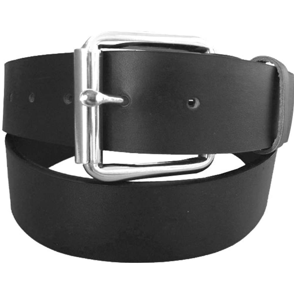 Plain Leather Belt with Exchangable Buckle