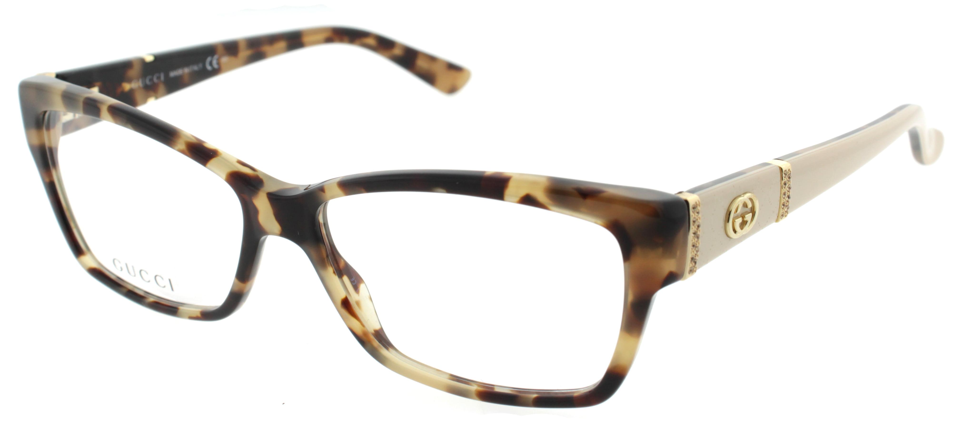gucci gg 3559 l7b 53mm havana brown honey gold womens eyeglasses walmartcom - Womens Gucci Frames