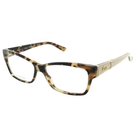 a8d7bad798a Gucci GG 3559 L7B 53mm Havana Brown Honey Gold Women s Eyeglasses -  Walmart.com