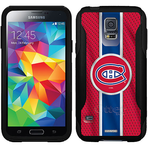 Montreal Canadiens Jersey Stripe Design on OtterBox Commuter Series Case for Samsung Galaxy S5