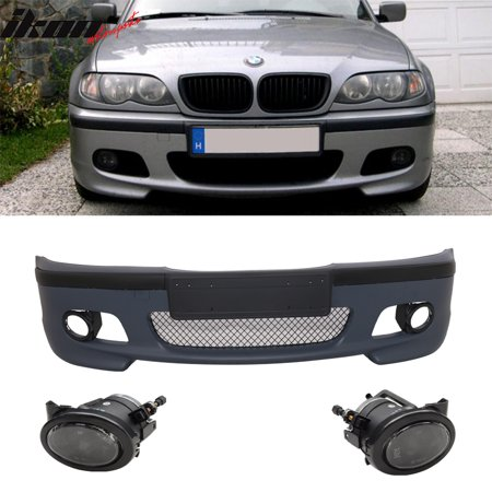 Fits 99-05 BMW E46 3 Series 4DR M Tech Msport Front Bumper Cover PP + Fog Lights Bmw E46 Front Bumper