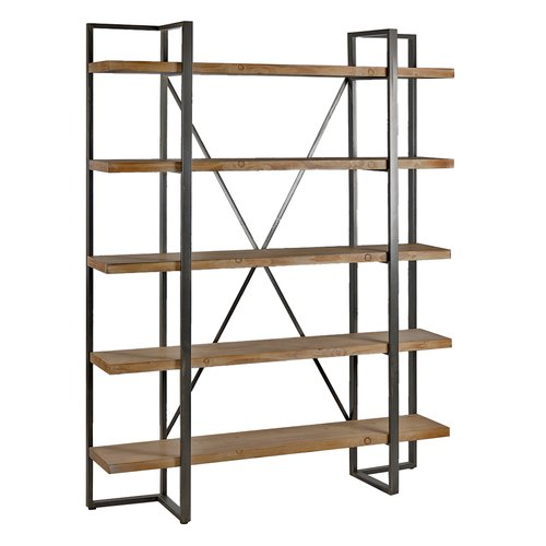 17 Stories Dahlberg Tall Etagere Bookcase by