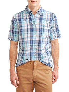 George Poplin Short Sleeve Shirt Up to 5XL