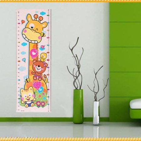Giraffe Height Chart - Fancyleo 1PCS Kids Growth Height Chart Wall Sticker Cartoon Giraffe Animal Sticker