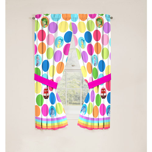 Disney Inside Out Curtain Drapes, Set of 2