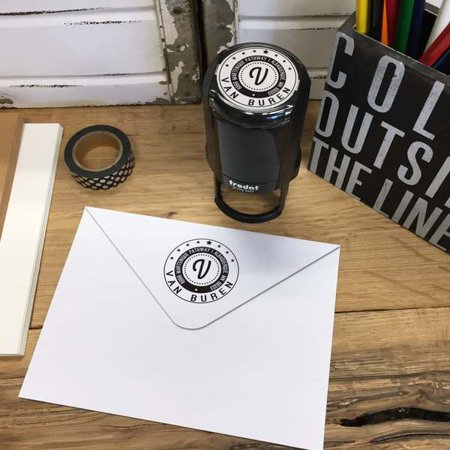 Personalized Round Self-Inking Rubber Stamp - The Van Buren](Personalized Vans)