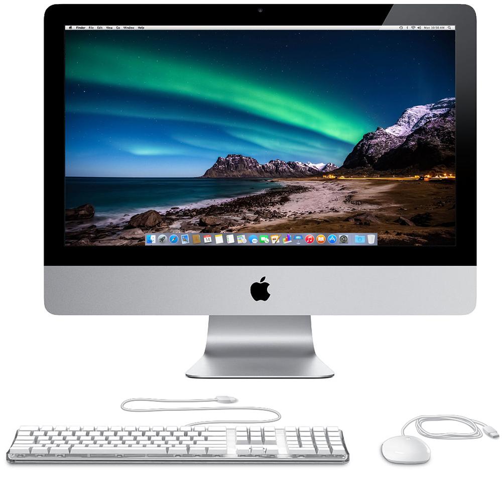 Apple iMac 21.5-inch - 500GB HDD, 4GB RAM, Intel Core i3 3.3 GHz (ME699LL/A) (Certified Refurbished)