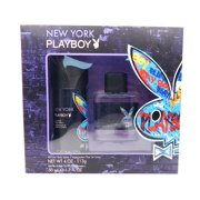 Playboy New York Set: All Over Body Spray 4 Oz., Eau de Toilette Spray 1.7 Fl Oz.