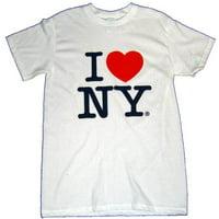 I Love NY T-Shirt - Size: Adult Large - Color: White