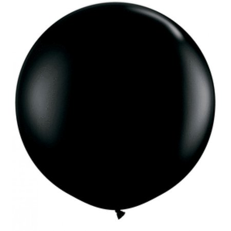 Koyal Wholesale Round Latex Giant Balloon (Pack of 2), 3', Onyx Black