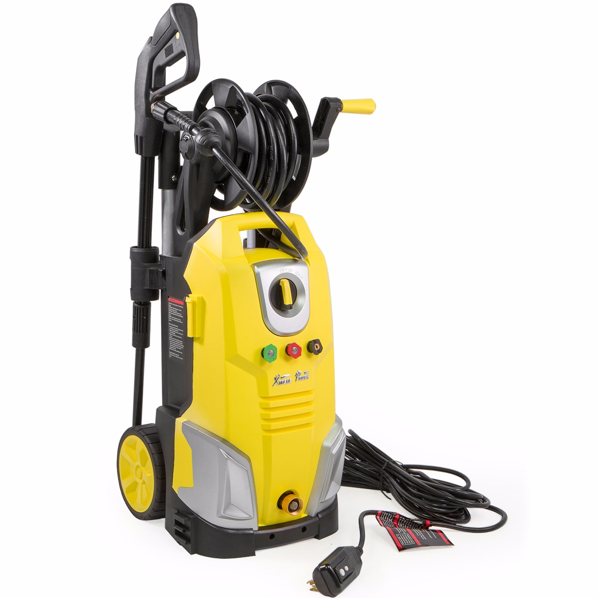 XtremepowerUS 2000PSI 1.7GPM Electric High Pressure Washer Nozzle Hose, with Wheels