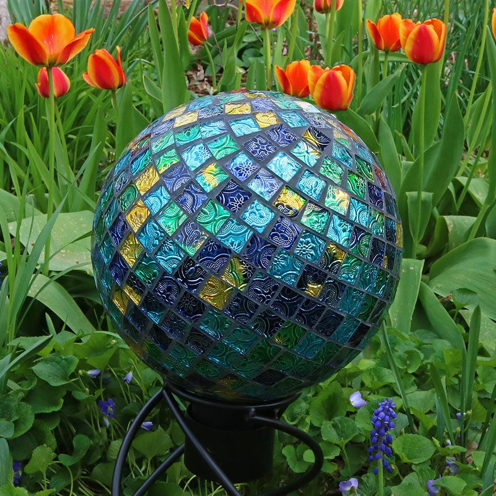 Sunnydaze Mosaic Garden 10 inch Gazing Ball Yard Decoration Options Available by Sunnydaze Decor