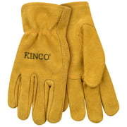 Kinco International 254766 Golden Full Suede Cowhide Glove for Youth