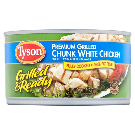 Tyson Grilled   Ready Premium Chunk White Chicken  12 Oz