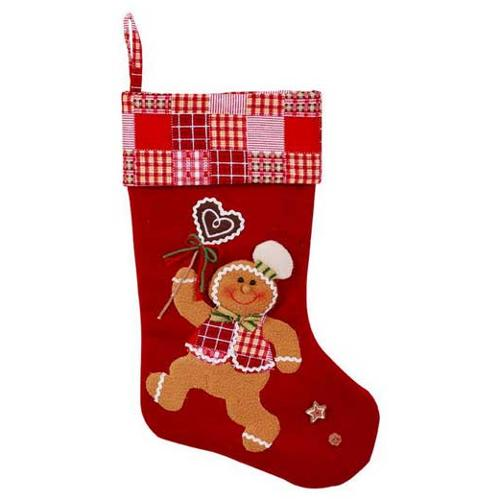 """20"""" Gingerbread Man Confectioner Christmas Stocking"""