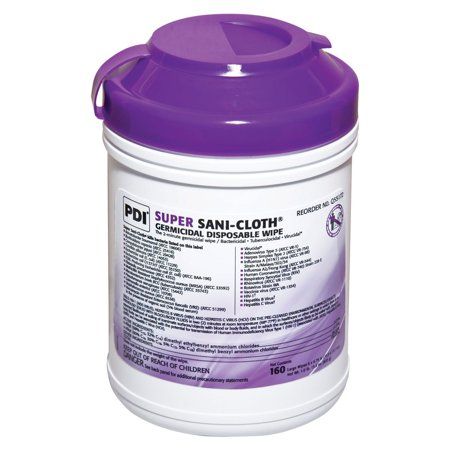 - Sani-Cloth Germicidal Disposable Wipes Large 6'' x 6-3/4'' 2 Pack
