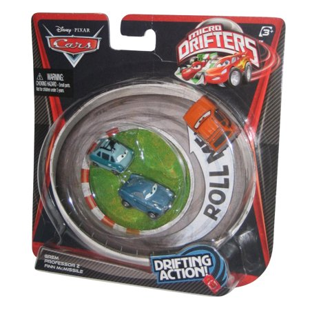 Disney Pixar Cars Movie Micro Drifters Grem Professor Z Finn McMissile Toy Set (Cars 2 Grem)