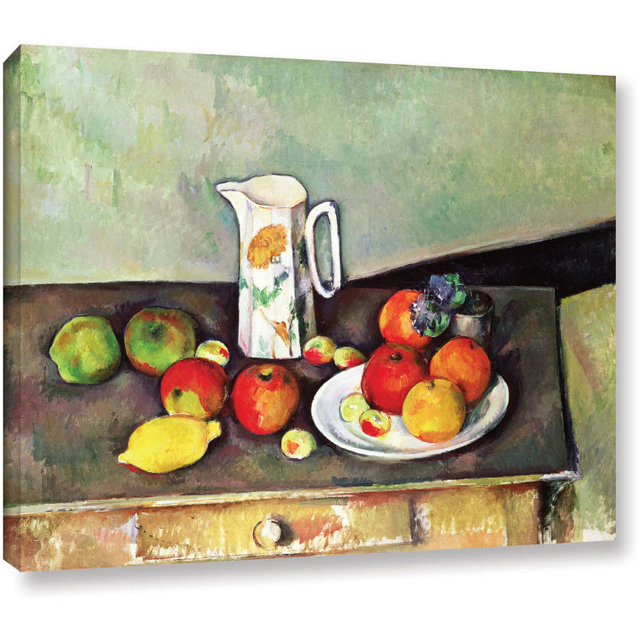 "Paul Cezanne ""Still Life with Milk Jug and Fruit"" Gallery-wrapped Canvas Art"