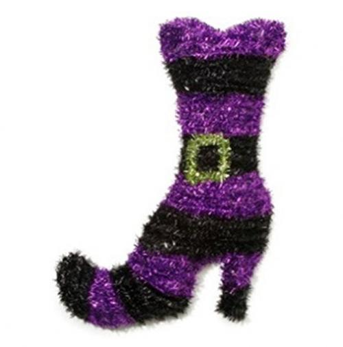 Darice Tinsel Witch Boot Wall Decor, 23""