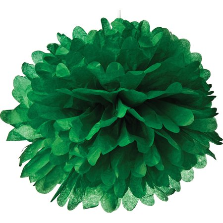 Tissue Paper Pom Pom (15-Inch, Kelly Green) - For Baby Showers, Nurseries, and Parties - Hanging Paper Flower - Pom Pom Lights