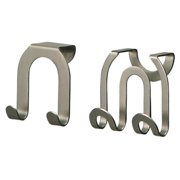 67971 Double Hook, Over Cabinet/Drawer, Brushed Nickel, 2-Pk. - Quantity 1