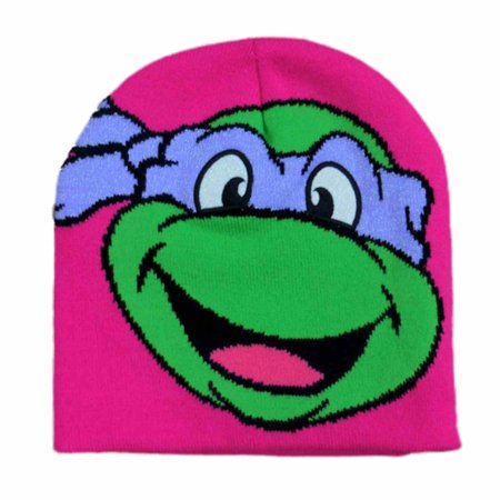 Teenage Mutant Ninja Turtles Girls Pink Donatello Beanie Stocking Cap Winter Hat for $<!---->