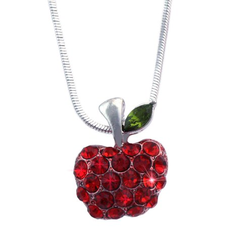 cocojewelry Small Red Apple Pendant Necklace Jewelry Gift For Teachers