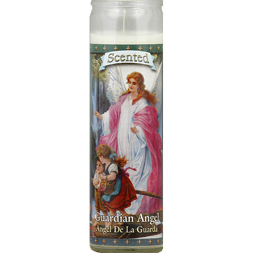St. Jude Candle Company Guardian Angel Vanilla Scented White Candle, (Pack of 12)